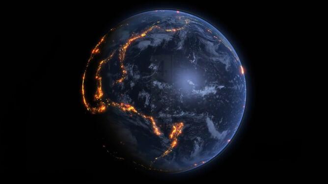 15 lat trzęsień ziemi na jednej animacji. Warto to zobaczyć