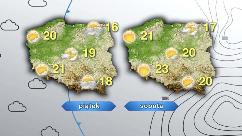 Prognoza pogoda na piątek i sobotę