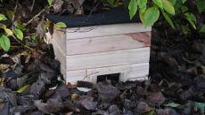 Powstają drewniane domki dla jeży (PAP/Jacek Bednarczyk)