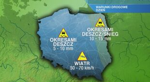 Warunki drogowe w piątek 31.01